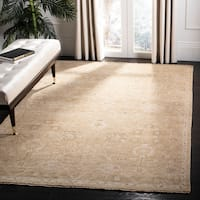 Safavieh Hand-Knotted Izmir Traditional Gold / Gold Wool Rug - 9' x 12'