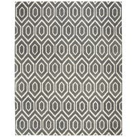 Safavieh Handmade Himalaya Modern & Contemporary Dark Grey / Ivory Wool Rug - 8' x 10'