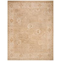 Safavieh Hand-Knotted Izmir Traditional Gold / Ivory Wool Rug - 9' X 12'