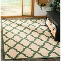 Safavieh Linden  Modern & Contemporary Cream / Green Rug - 9' x 12'