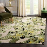 Safavieh Hand-Knotted Kenya Transitional Green / Beige Wool Rug - 8' x 10'