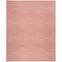 Safavieh Linden  Modern & Contemporary Red / Creme Rug - 8' x 10'