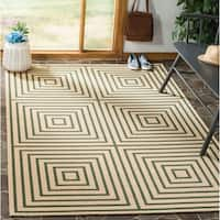 Safavieh Linden  Modern & Contemporary Cream / Green Rug - 8' x 10'
