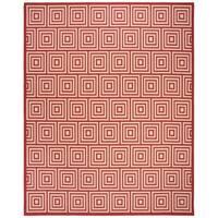 Safavieh Linden  Modern & Contemporary Red / Creme Rug - 9' x 12'