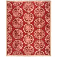 Safavieh Linden  Modern & Contemporary Red / Creme Rug - 9' x 12'