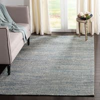 Safavieh Hand-Woven Marbella Modern & Contemporary Blue / Ivory Jute Rug - 8' X 10'
