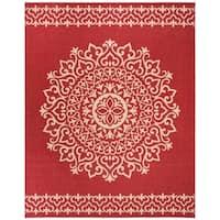 Safavieh Linden  Modern & Contemporary Red / Creme Rug - 8' x 10'