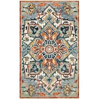 Safavieh Handmade Aspen Modern & Contemporary Blue / Rust Wool Rug - 3' x 5'
