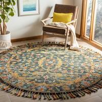 Safavieh Handmade Aspen Modern & Contemporary Olive / Rust Wool Tassel Area Rug - 3' x 5'