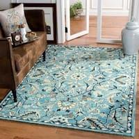Safavieh Handmade Blossom Modern & Contemporary Blue / Ivory Wool Rug - 3' x 5'
