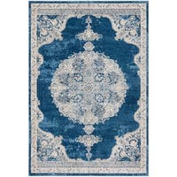 Safavieh Brentwood Traditional Navy / Light Grey Rug - 4' x 6'