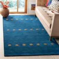 Safavieh Hand-Woven Himalaya Modern & Contemporary Blue Wool Rug - 4' x 6'