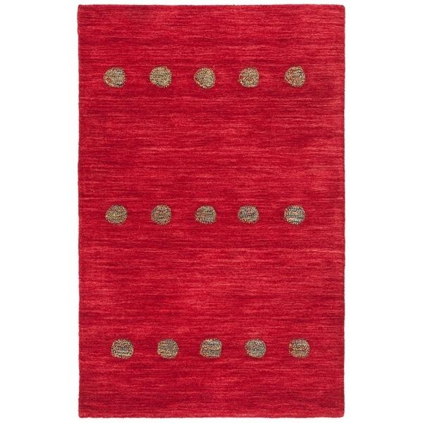 Safavieh Hand-Woven Himalaya Modern & Contemporary Red Wool Rug - 3' x 5'