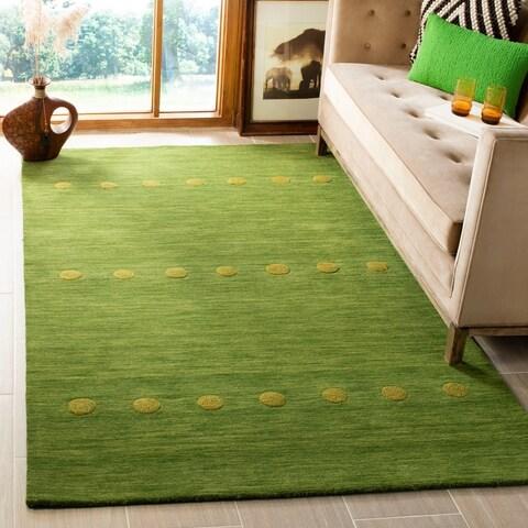 Safavieh Hand-Woven Himalaya Modern & Contemporary Green Wool Rug - 4' x 6'