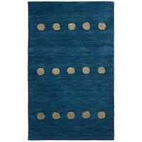 Safavieh Hand-Woven Himalaya Modern & Contemporary Blue Wool Rug - 3' x 5'