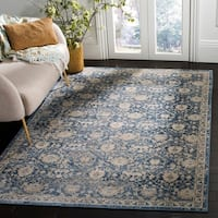 Safavieh Brentwood Traditional Navy / Creme Rug - 4' x 6'