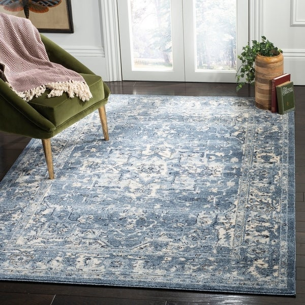 Shop Safavieh Charleston Traditional Navy / Creme Rug