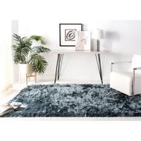 Safavieh Handmade Ocean Shag Slate Polyester Rug - 3' x 5'