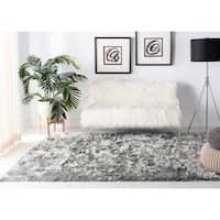 Safavieh Handmade Ocean Shag Silver Polyester Rug - 3' x 5'