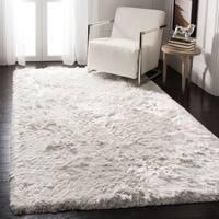 Safavieh Handmade Ocean Shag Ivory Polyester Rug - 3' x 5'