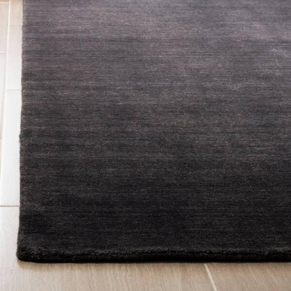 Safavieh Handmade Himalaya Modern Contemporary Black Wool Rug 3 X 5
