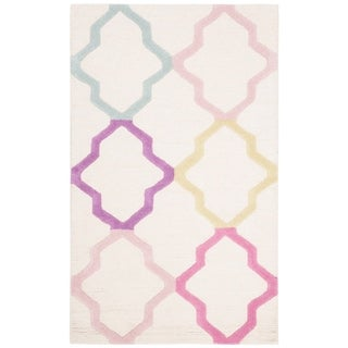 Safavieh Handmade Safavieh Kids Modern & Contemporary Ivory / Multi Wool Rug - 3' x 5'