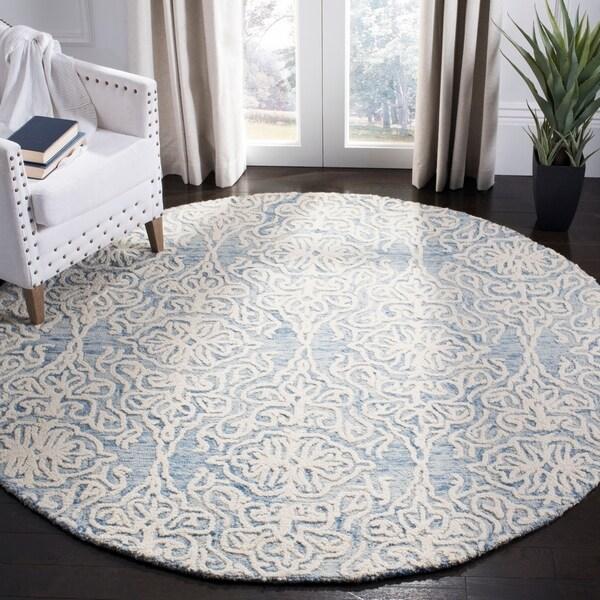 Shop Safavieh Handmade Blossom Modern Contemporary Blue Ivory
