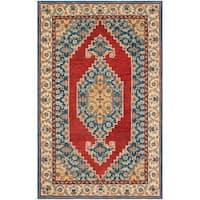Safavieh Handmade Antiquity Traditional Blue / Red Wool Rug - 5' x 8'