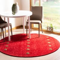 Safavieh Hand-Woven Himalaya Modern & Contemporary Red Wool Rug - 6' x 6' Round