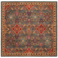Safavieh Handmade Heritage Traditional Charcoal / Multi Wool Rug - 6' x 6' Square