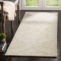 Safavieh Handmade Micro-Loop Transitional Silver Wool Rug - 5' x 5' round