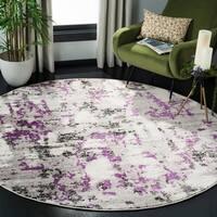 """Safavieh Skyler Modern & Contemporary Grey / Purple Rug - 6'7"""" x 6'7"""" round"""
