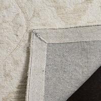 Safavieh Handmade Micro-Loop Transitional Beige Wool Rug - 5' x 5' round