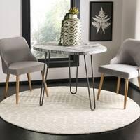 Safavieh Handmade Blossom Modern & Contemporary Silver / Ivory Wool Rug - 6' x 6' Round