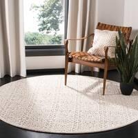 Safavieh Handmade Trace Modern & Contemporary Light Beige Wool Rug - 6' x 6' Round