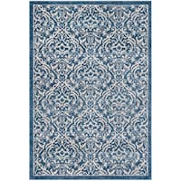 """Safavieh Brentwood Traditional Navy / Creme Rug - 5'3"""" x 7'6"""""""