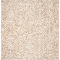 Safavieh Handmade Blossom Modern & Contemporary Beige / Ivory Wool Rug - 6' x 6' Square