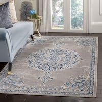"Safavieh Brentwood Traditional Light Grey / Blue Rug - 5'3"" x 7'6"""