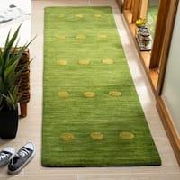 "Safavieh Hand-Woven Himalaya Modern & Contemporary Green Wool Rug - 2'3"" x 8'"