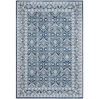 "Safavieh Brentwood Traditional Navy / Light Grey Rug - 5'3"" x 7'6"""