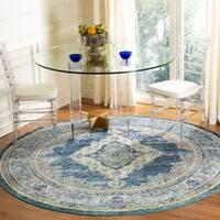 Safavieh Crystal Vintage Blue / Yellow Rug - 7' x 7' Round