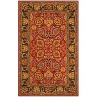Safavieh Handmade Heritage Traditional Red / Gold Wool Rug - 6' x 9'