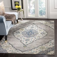 "Safavieh Madison Vintage Light Grey / Fuchsia Rug - 5'3"" x 7'6"""