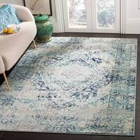 Safavieh Madison Vintage Ivory / Blue Rug - 6' x 9'