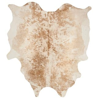 Safavieh Handpicked Hacienda Argentinian Cow Hide Casual Tan Cowhide Rug - 6' x 6'9""