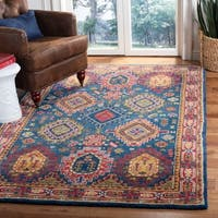 Safavieh Handmade Heritage Traditional Navy / Red Wool Rug - 5' X 8'