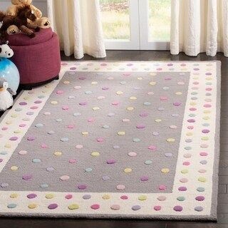 Safavieh Handmade Safavieh Kids Modern & Contemporary Grey / Multi Wool Rug - 5' x 8'