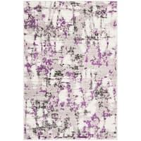"""Safavieh Skyler Modern & Contemporary Grey / Purple Rug - 5'1"""" x 7'6"""""""