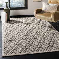 Safavieh Handmade Trace Modern & Contemporary Grey / Black Wool Rug - 5' x 8'