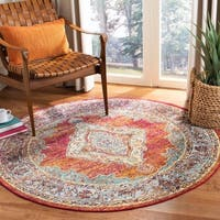 Safavieh Crystal Vintage Orange / Light Blue Rug - 5' x 5' round